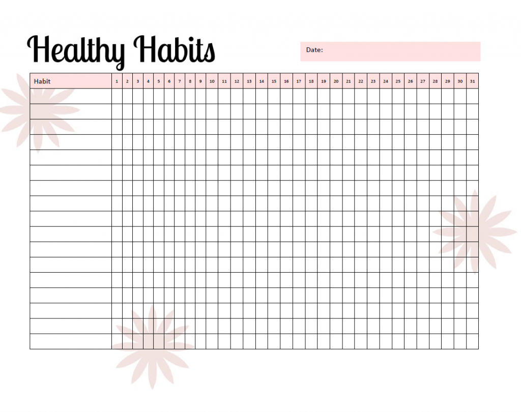 Healthy Habits Tracker