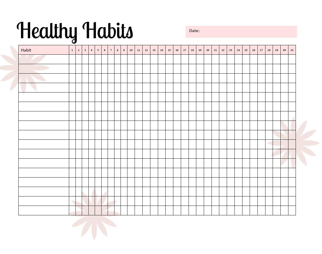 Healthy Habits Tracker