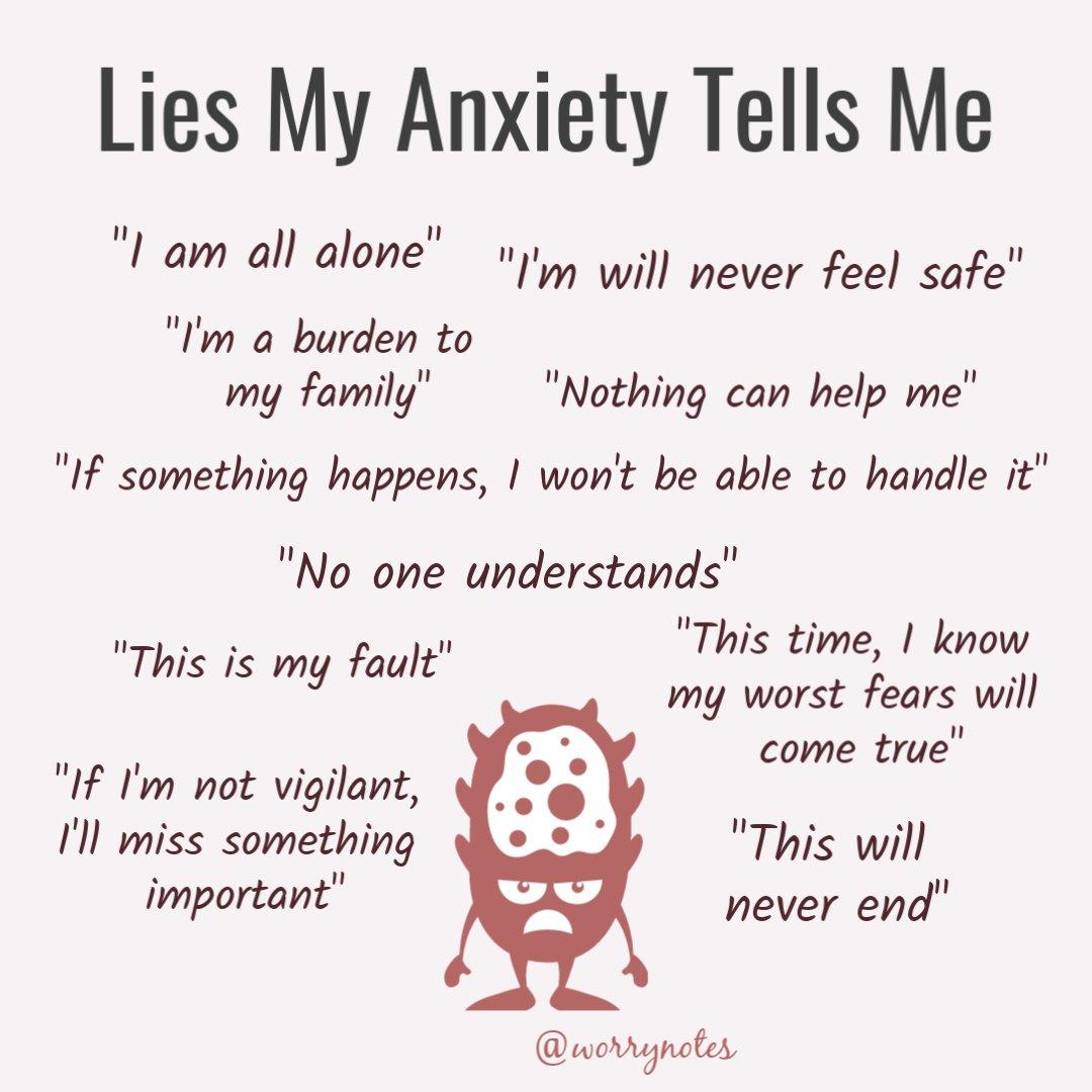 Lies my health anxiety tell me