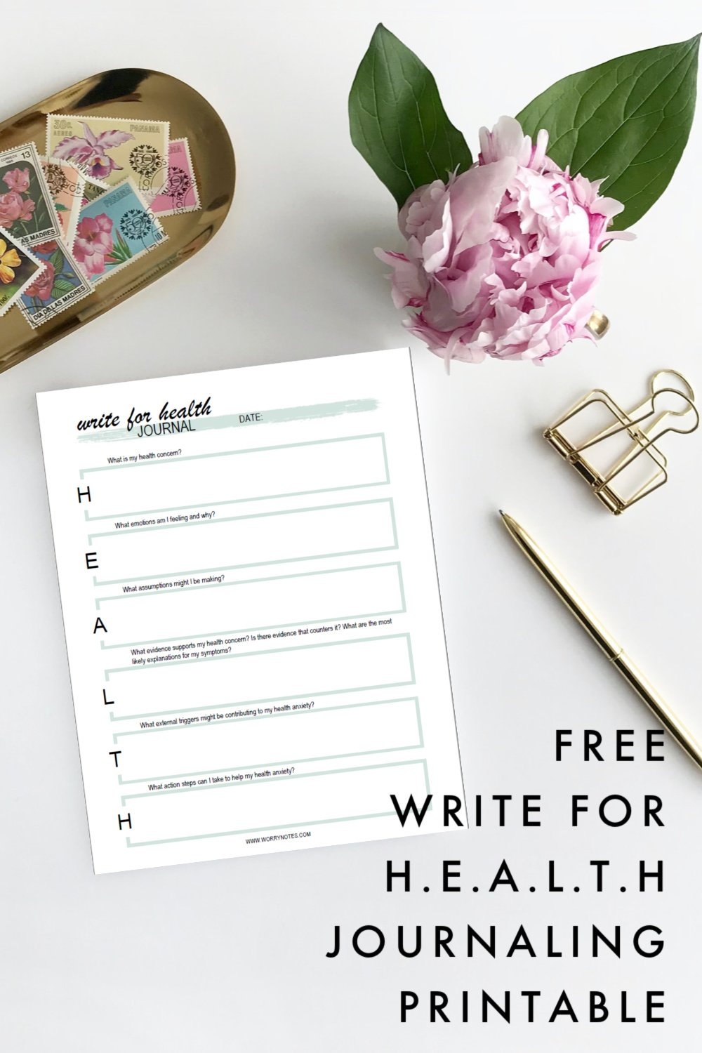 journaling for health anxiety worksheet